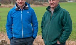 Peter Eccles and Bill Gray from Lothians Monitor farm