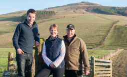 Stuart, Lesley & Robert Mitchell from Whitriggs Farm