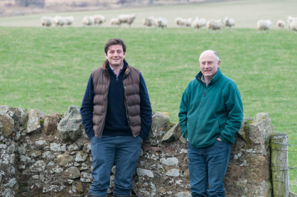 Peter Eccles & Bill Gray from Lothians Monitor Farm