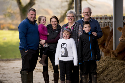 The Cameron family from Strone Farm